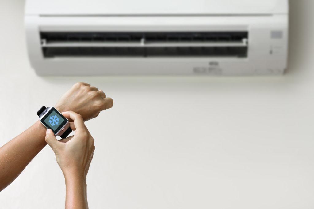 smartwatch klimatyzacja